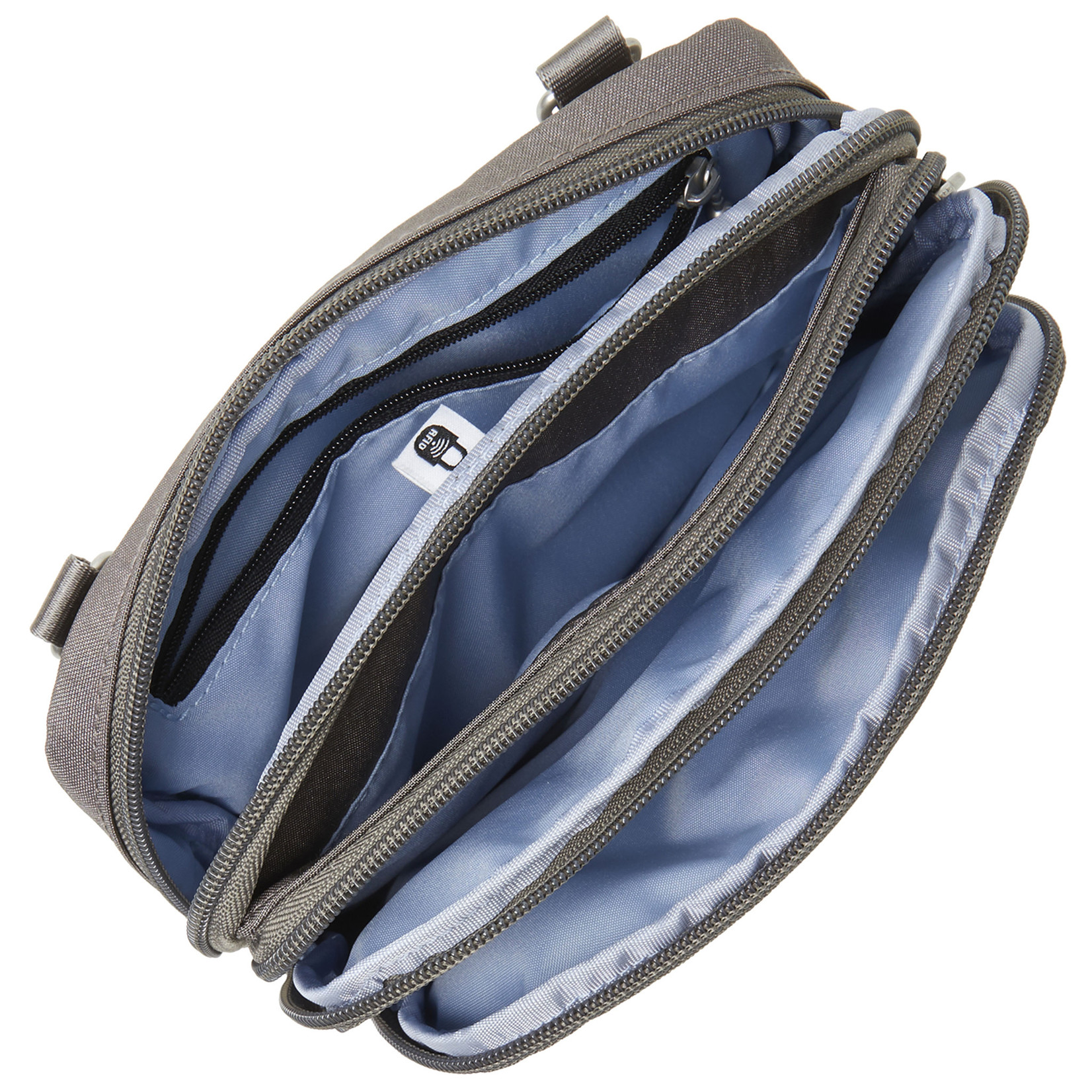 Baggallini Time Zone RFID Crossbody Bag - Sterling Shimmer