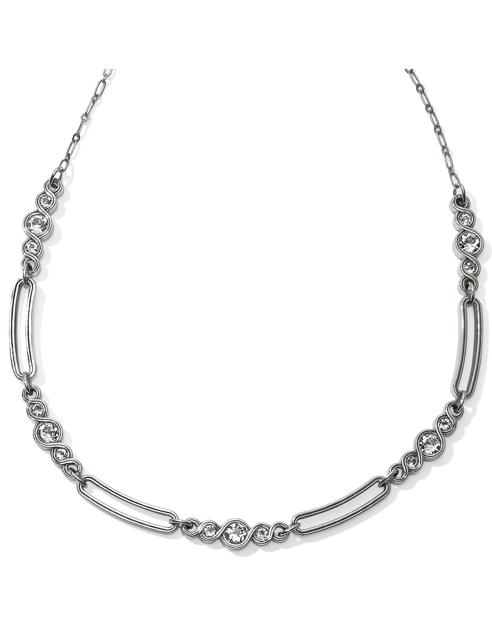 Brighton JL9561 Infinity Sparkle Link Collar Necklace