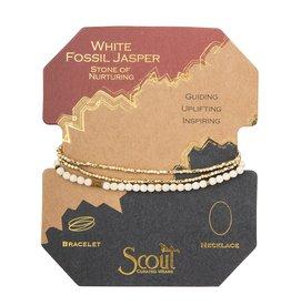 Scout SD003 Delicate Stone White Fossil - Stone of Nurturing