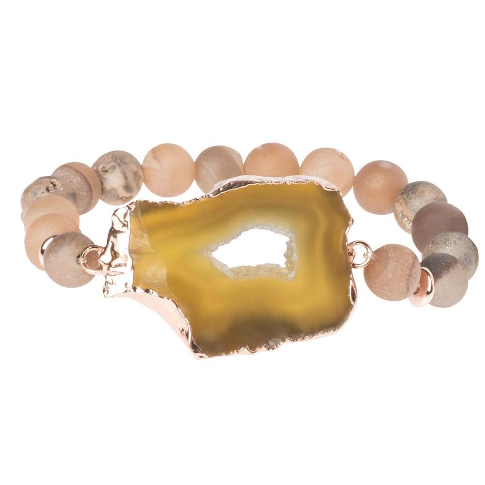 Scout SG002 Geode Stack Bracelet:  Champagne/Vert/Rose Gold