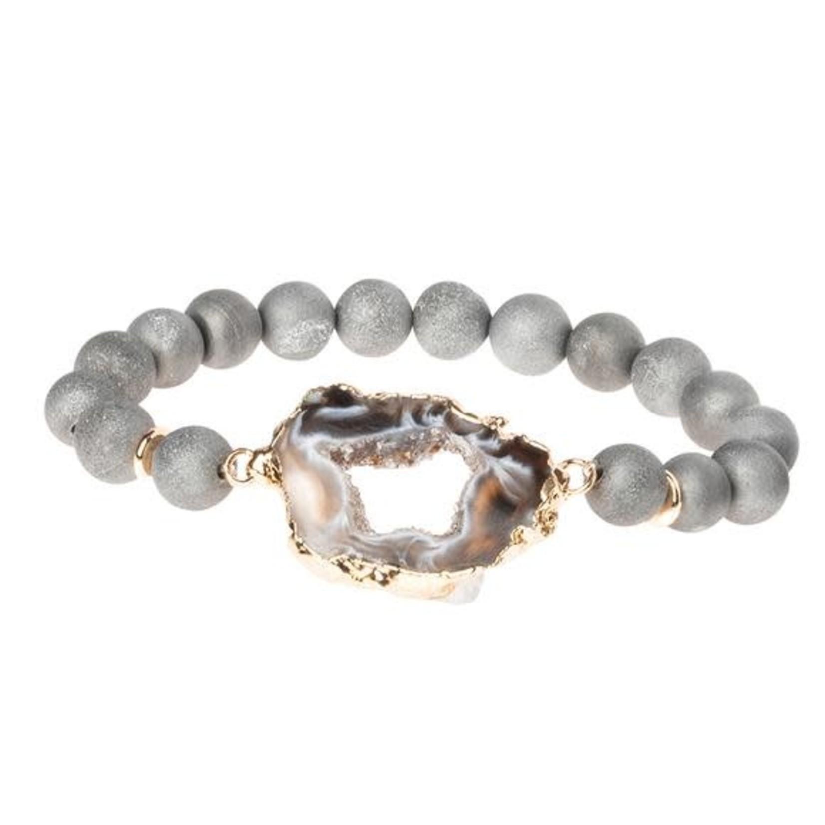 Scout SG003 Geode Stack Bracelet:  Grey/Storm/Gold