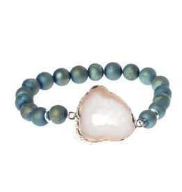 Scout SG005 Geode Stack Bracelet:  Neptune/Ice/Silver