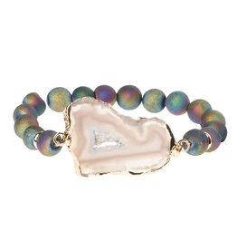 Scout SG004 Geode Stack Bracelet:  Oil Slick/Mist/Gold