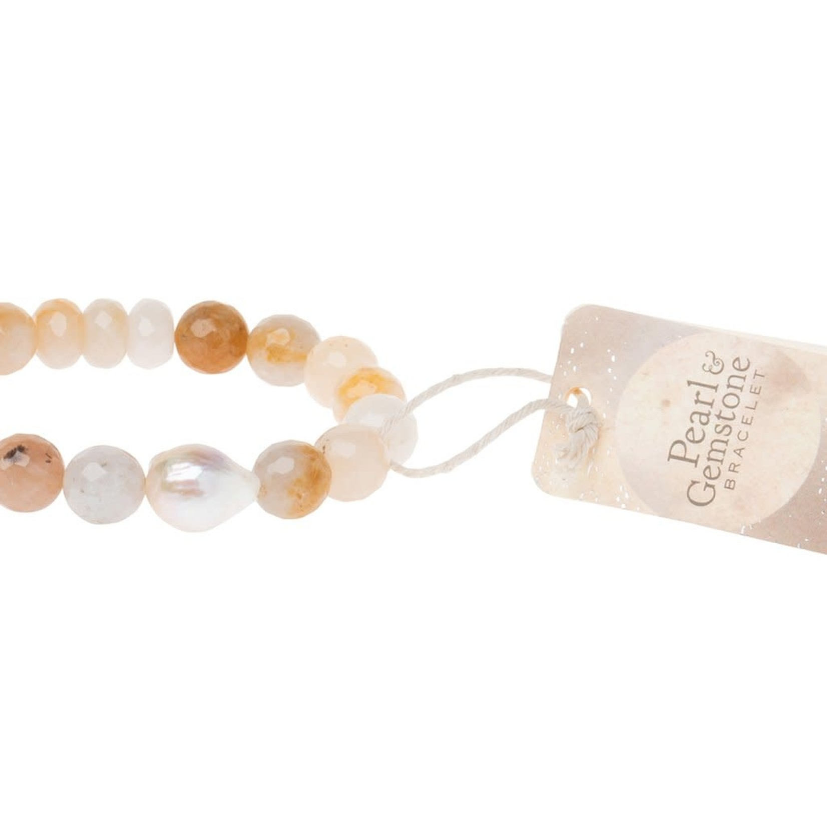 Scout PB001 Pearl & Gemstone Bracelet - Ivory Agate