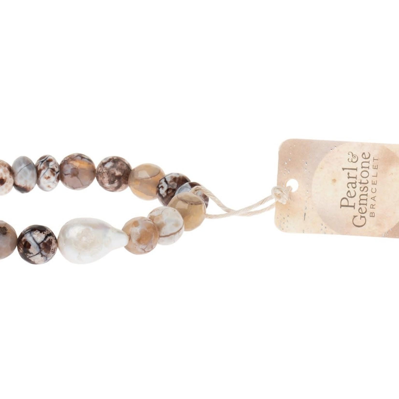 Scout PB005 Pearl & Gemstone Bracelet - Mauve Agate