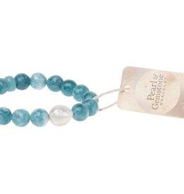 Scout PB004 Pearl & Gemstone Bracelet - Sea Blue Agate