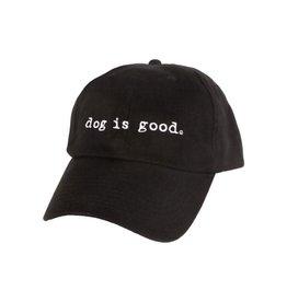 Dog Is Good Cap:  Dog is Good Signature Black