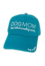 Dog Is Good Cap:  Dog Mom (Turquoise)