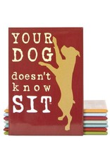 Dog Is Good Magnet:  Your Dog Doesn't Know Sit