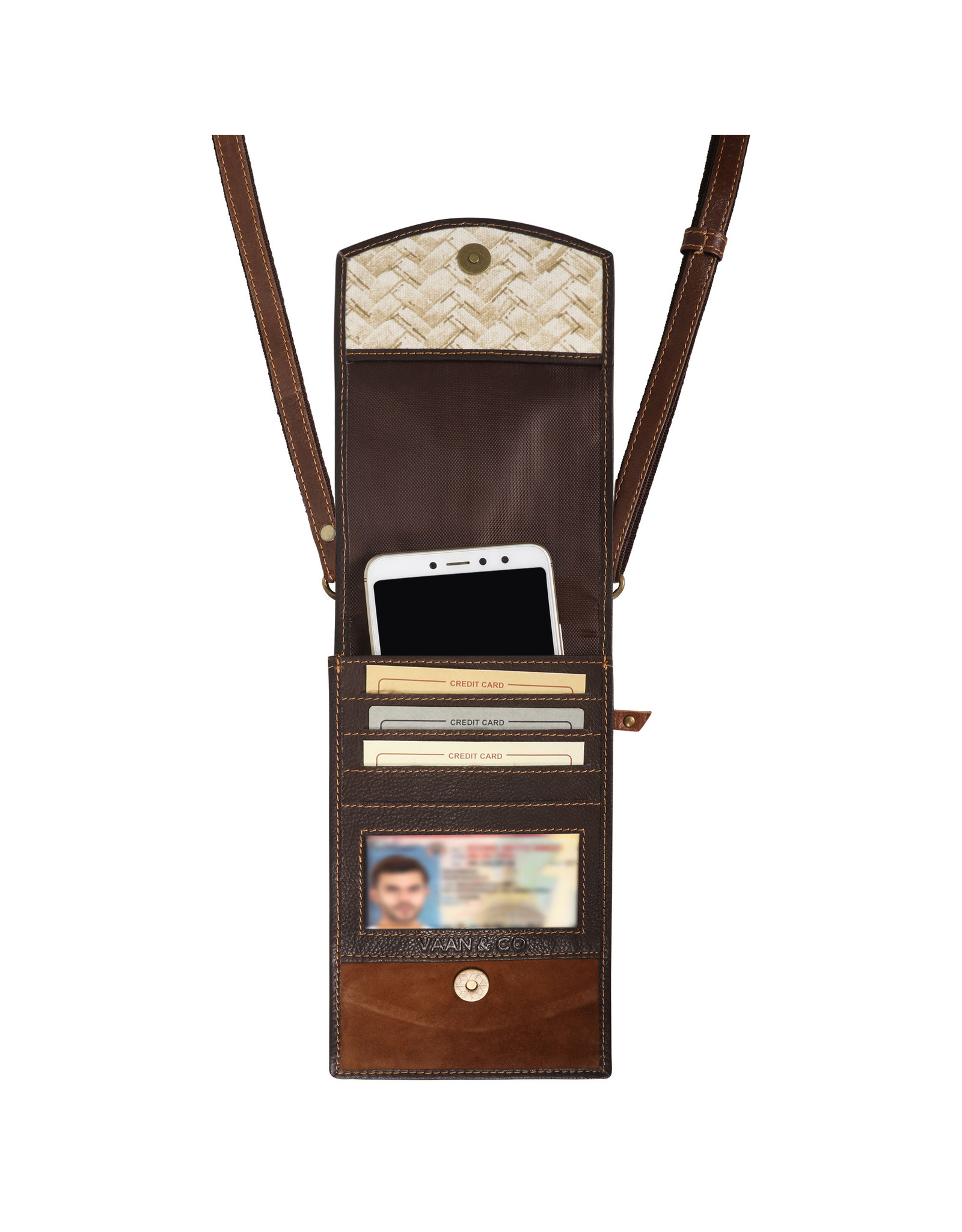 Vann & Co S2V-107 RFID Mobile Wallet Crossbody Bag