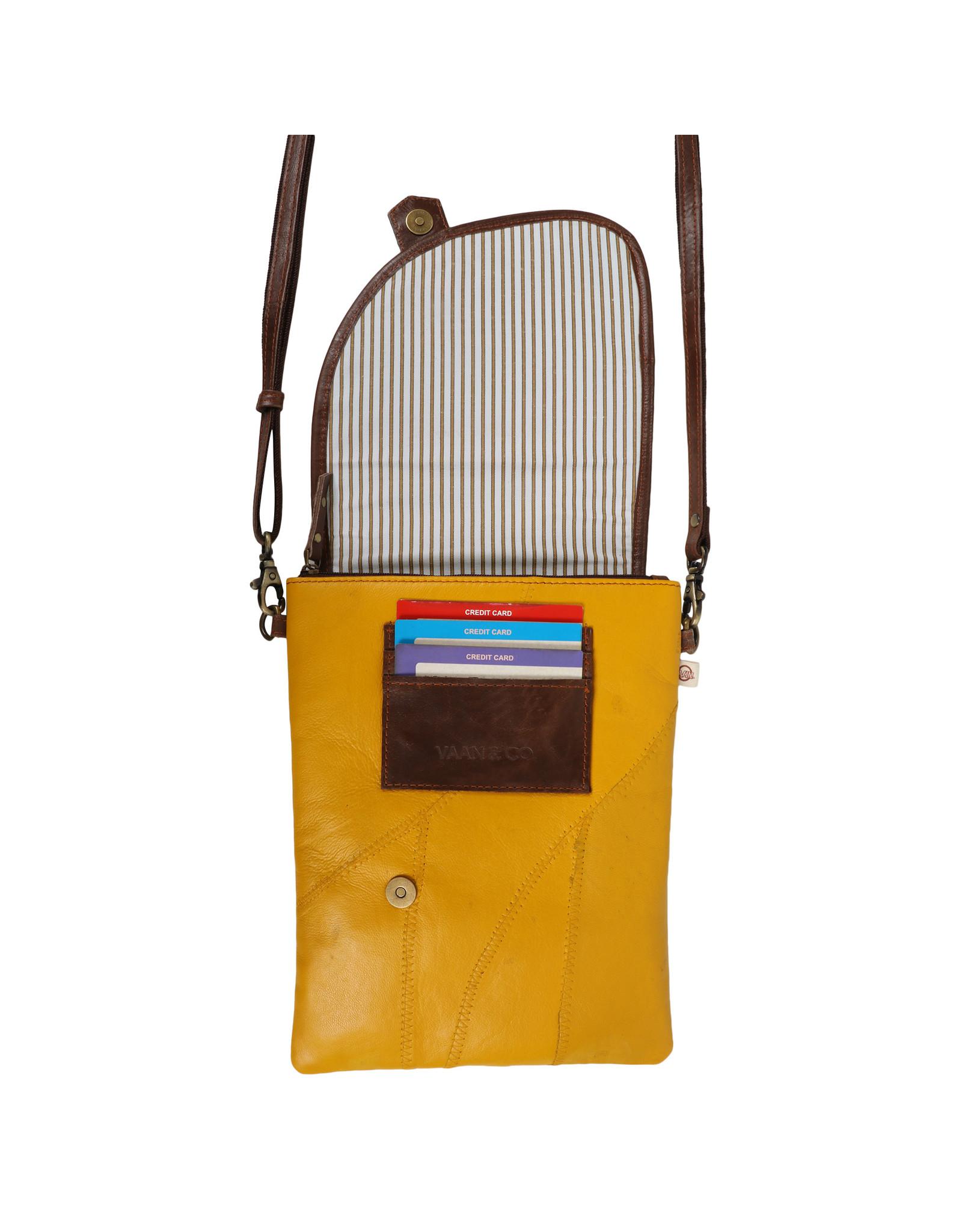 Vann & Co S2V-409 RFID Small Crossbody Bag with Flap