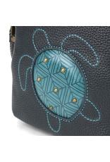 Chala Uni Cell Phone Crossbody - Turtle -  Black/Turquoise
