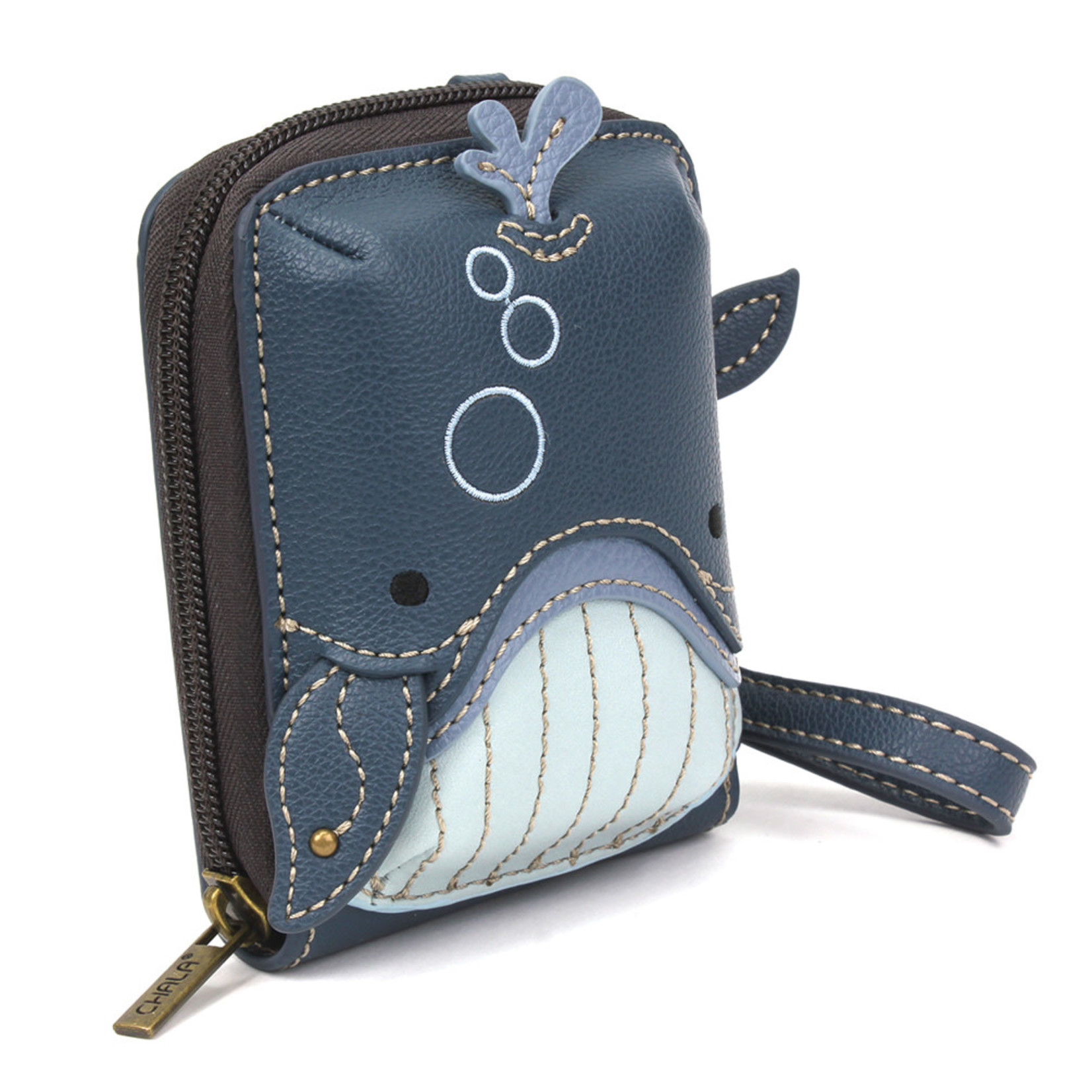 Chala Cute-C Credit Card Holder Wristlet:  Whale