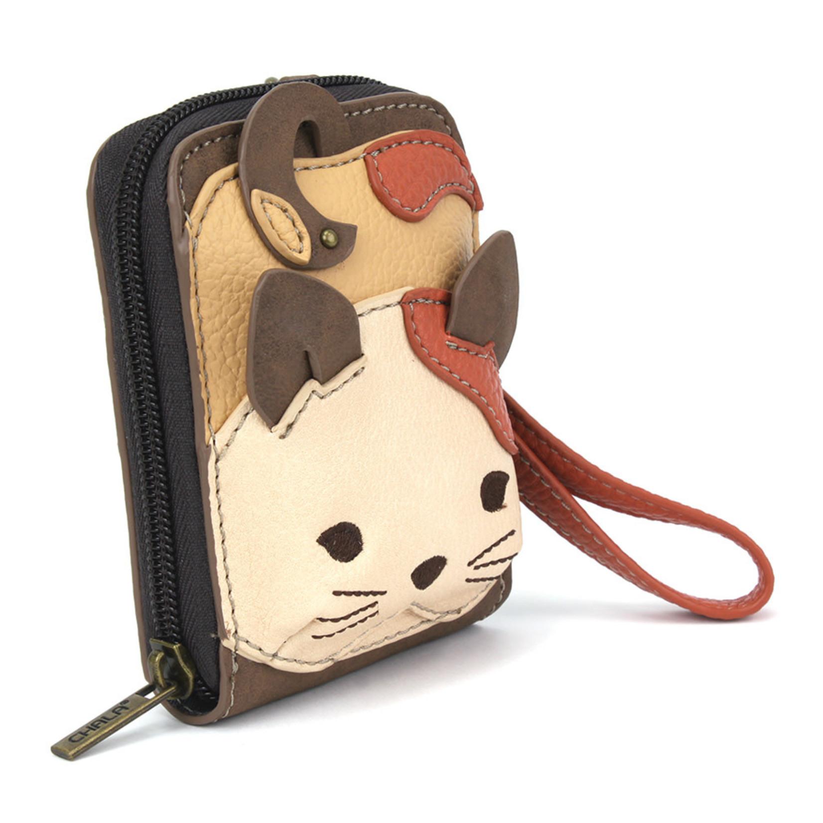 Chala Cute-C Credit Card Holder Wristlet: Cat