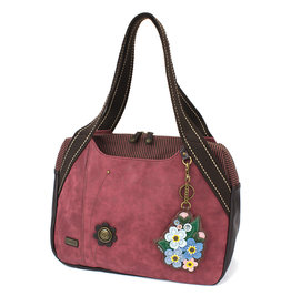 Chala Bowling Bag - Forget Me Not - Burgundy