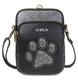 Chala Uni Cellphone Crossbody - Paw Print - Black