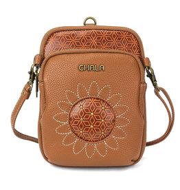 Chala Uni Cellphone Crossbody - Sunflower - Brown