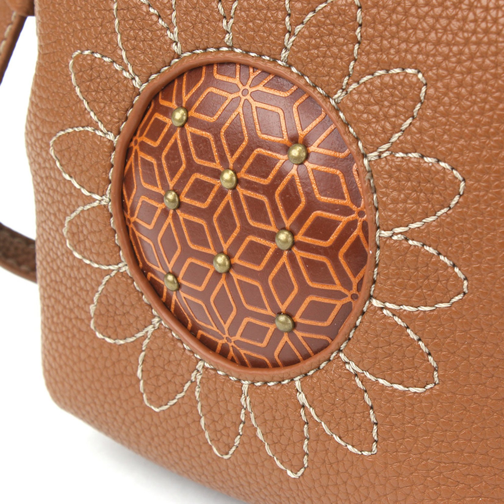Chala Uni Cell Phone Crossbody - Sunflower - Brown