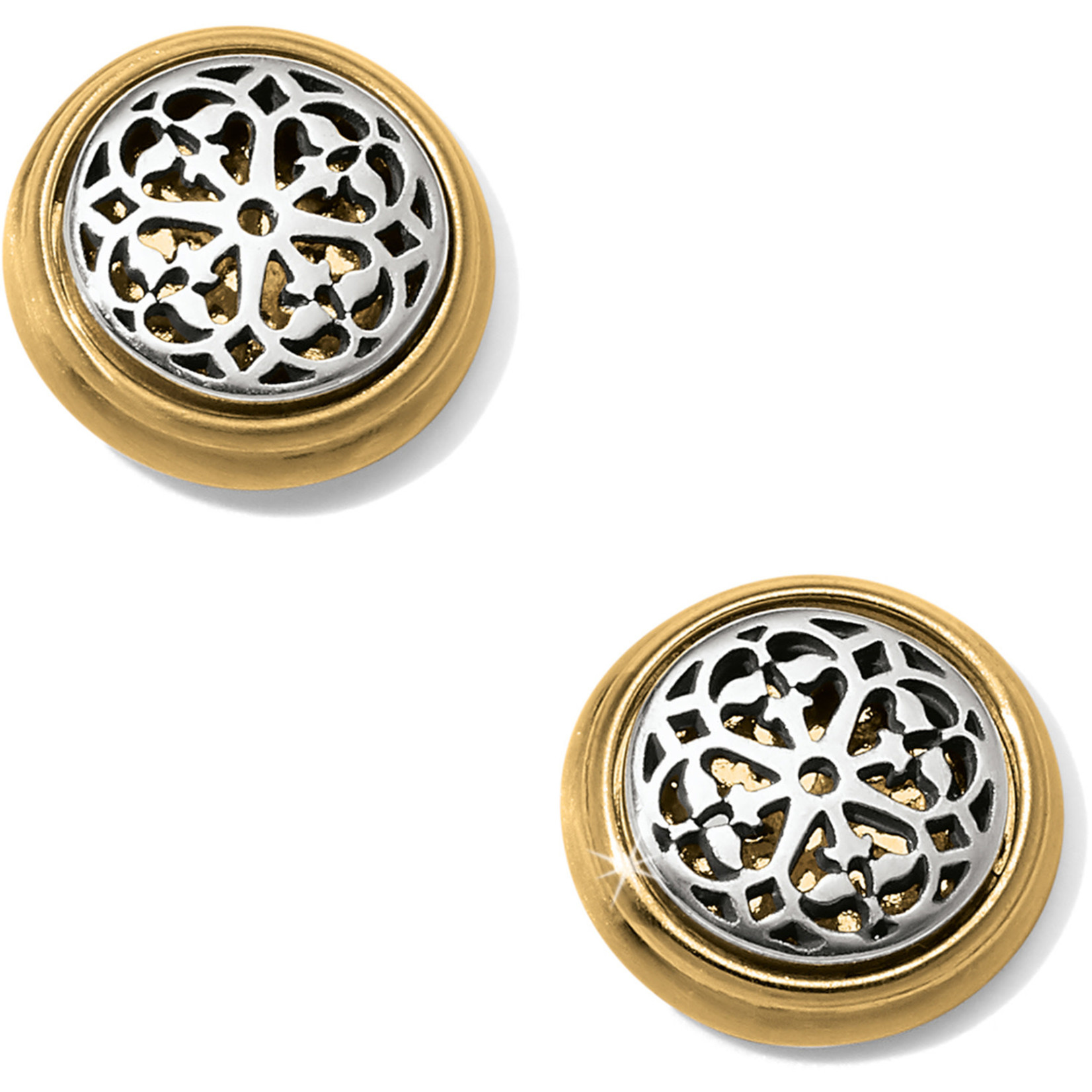 Brighton JA5802 Ferrara Two Tone Post Earrings