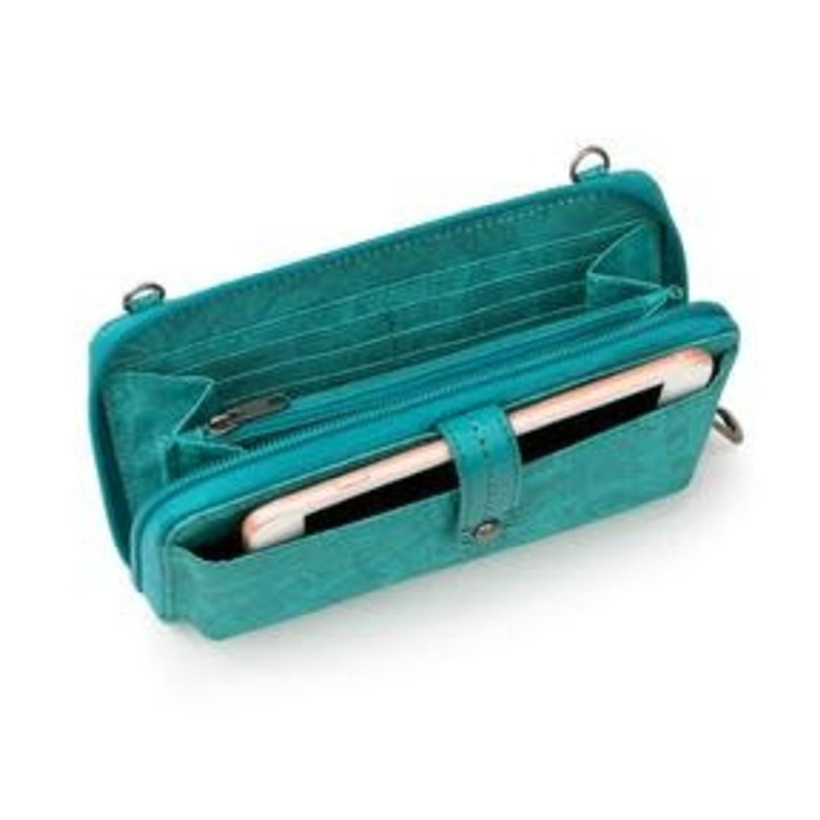 SakRoots Large Smartphone Crossbody - Turquoise Tonal Spirit Desert