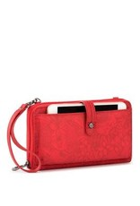 SakRoots Large Smartphone Crossbody - Red Tonal Spirit Desert