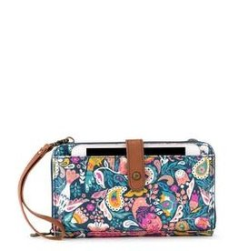 SakRoots Large Smartphone Crossbody - Teal Enchanted Forest