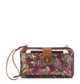 SakRoots Large Smartphone Crossbody - Mulberry Treehouse