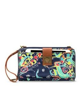 SakRoots Large Smartphone Crossbody - Denim Songbird