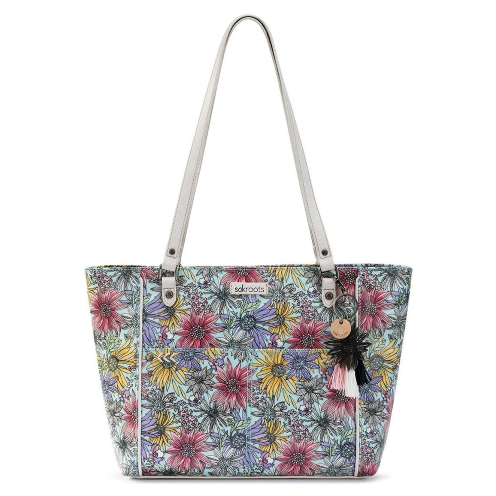 SakRoots Metro Tote - Pastel Flower Garden
