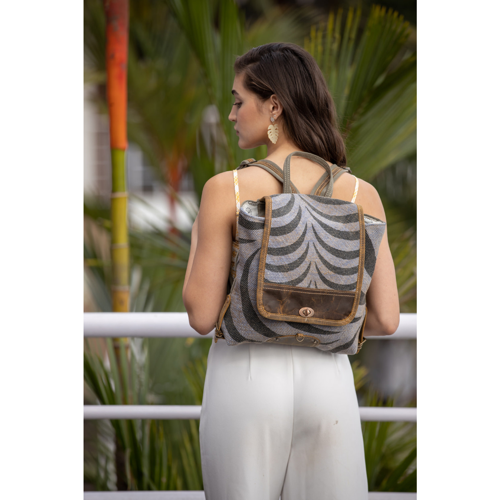 Myra Bags S-2203 Grey Tranquility Backpack