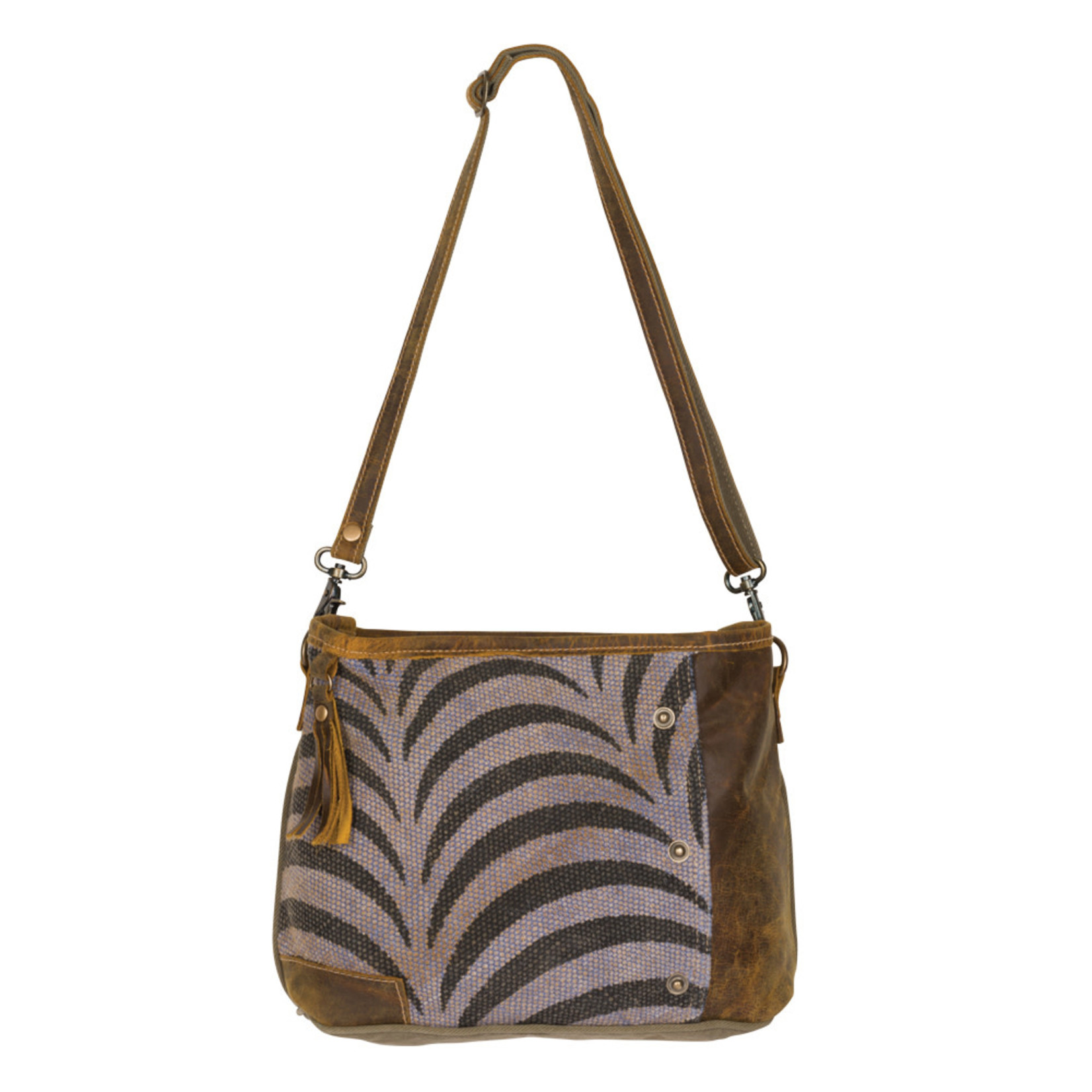 Myra Bags S-2211 Stripe Shoulder Bag