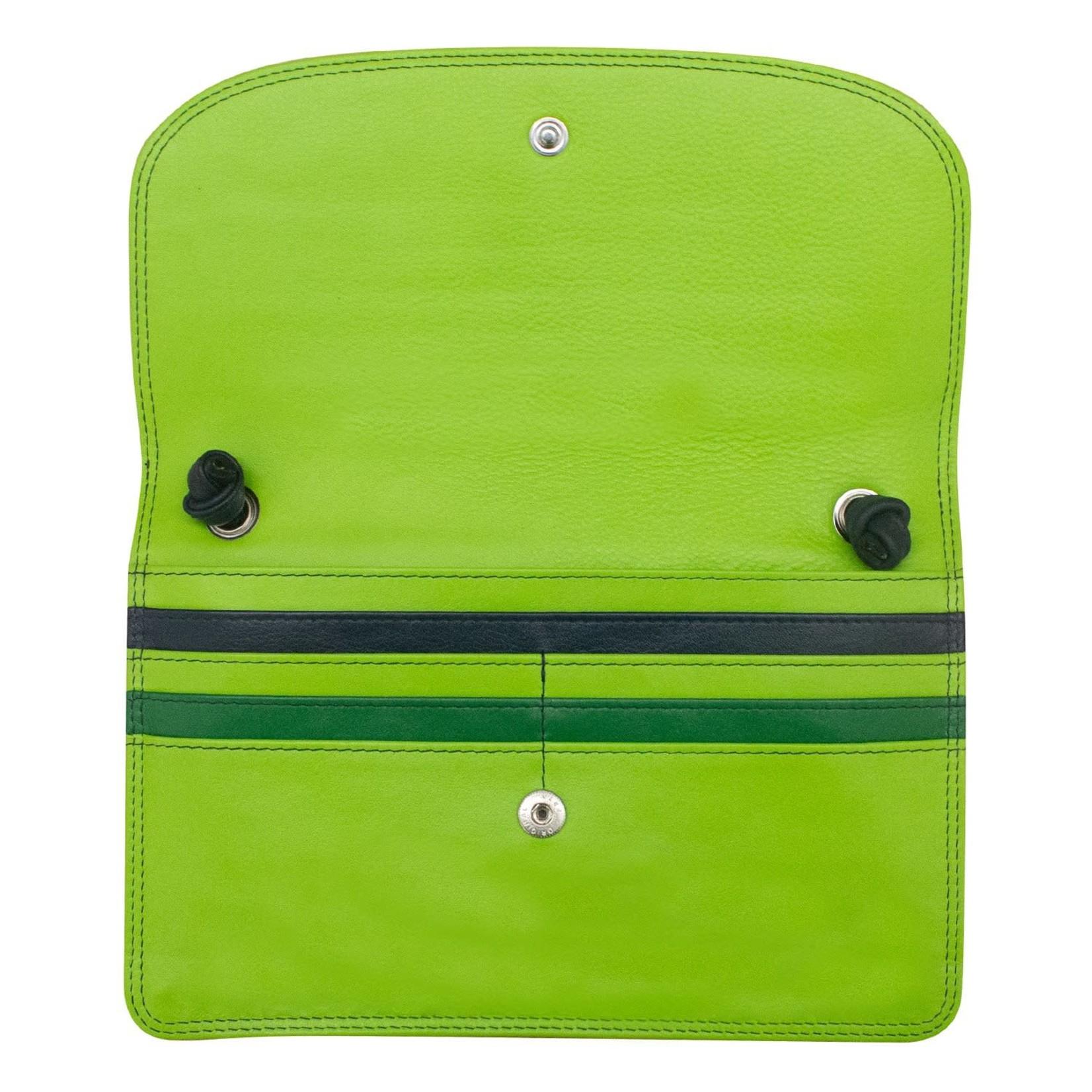 Leather Handbags and Accessories 6181 Meadow - RFID Slim Crossbody Wallet