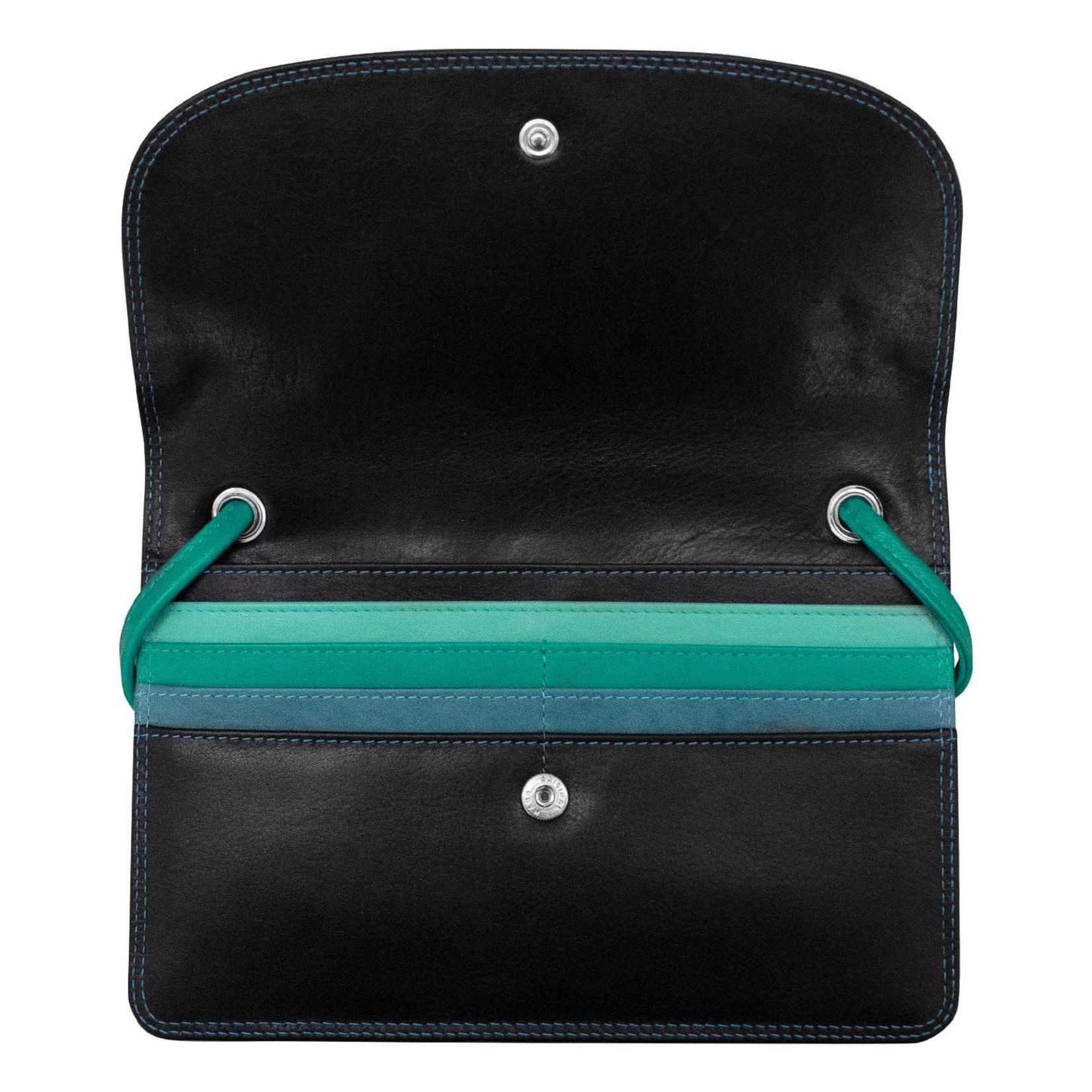 Leather Handbags and Accessories 6181 Midnight - RFID Slim Crossbody Wallet