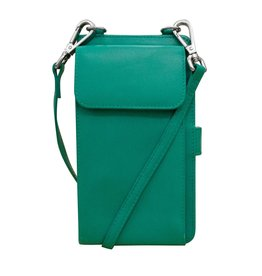 Leather Handbags and Accessories 6363 Aqua - RFID Organizer Crossbody