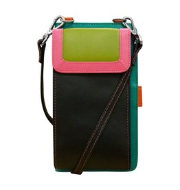 Leather Handbags and Accessories 6363 Black Brights - RFID Organizer Crossbody