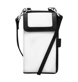 Leather Handbags and Accessories 6363 Black/White - RFID Organizer Crossbody