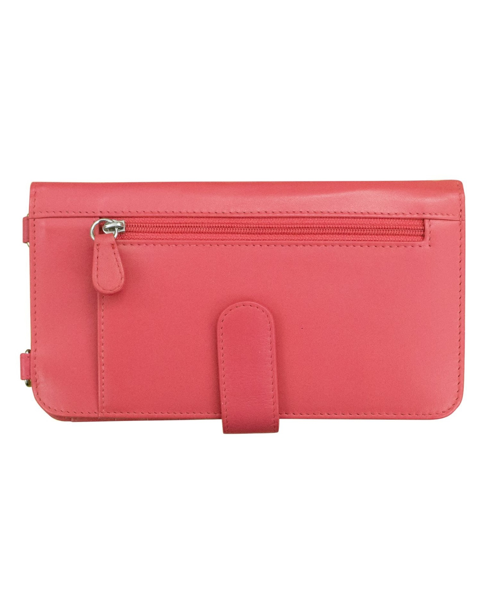 Leather Handbags and Accessories 6363 Hot Pink - RFID Organizer Crossbody