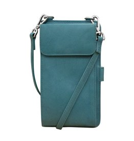 Leather Handbags and Accessories 6363 Jeans Blue - RFID Organizer Crossbody