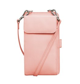 Leather Handbags and Accessories 6363 Pastel Pink - RFID Organizer Crossbody