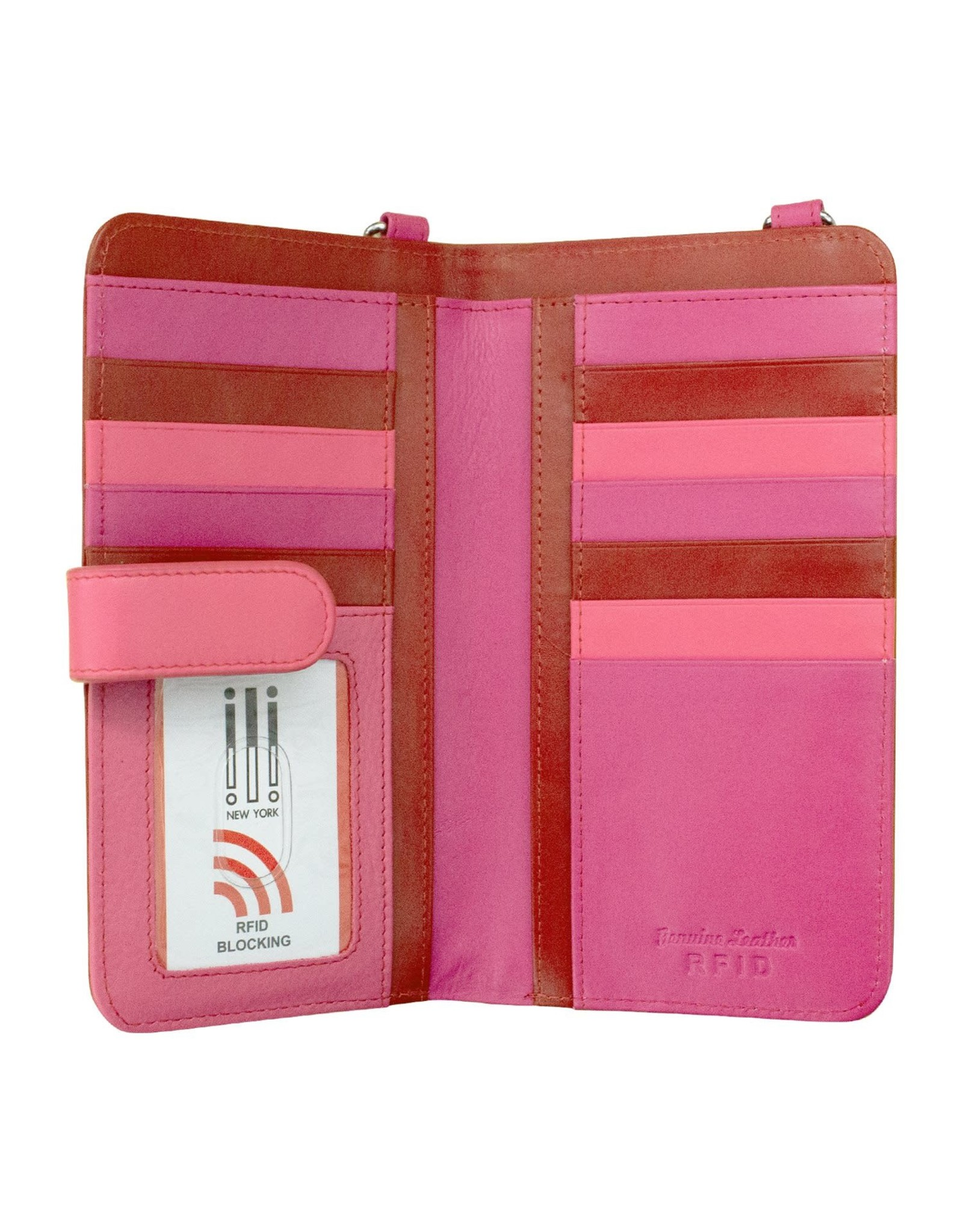 Leather Handbags and Accessories 6363 Rouge - RFID Organizer Crossbody