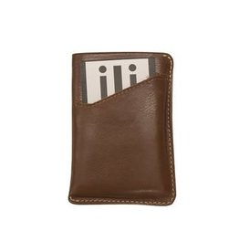Leather Handbags and Accessories 6416 Toffee - RFID Pull Out CC Holder