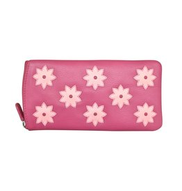Leather Handbags and Accessories 6464 Hot Pink / Pastel Pink - Eyeglass Case