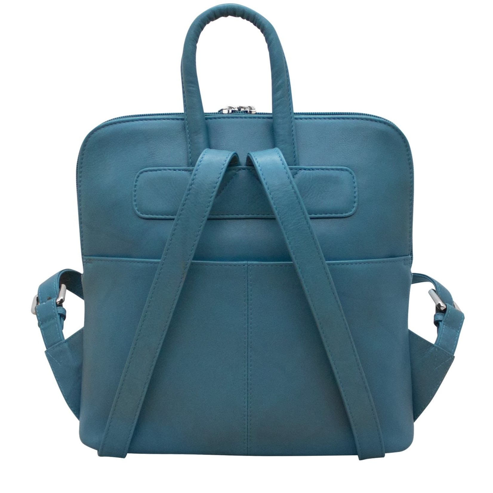 Leather Handbags and Accessories 6503 Jeans Blue - Small Backpack