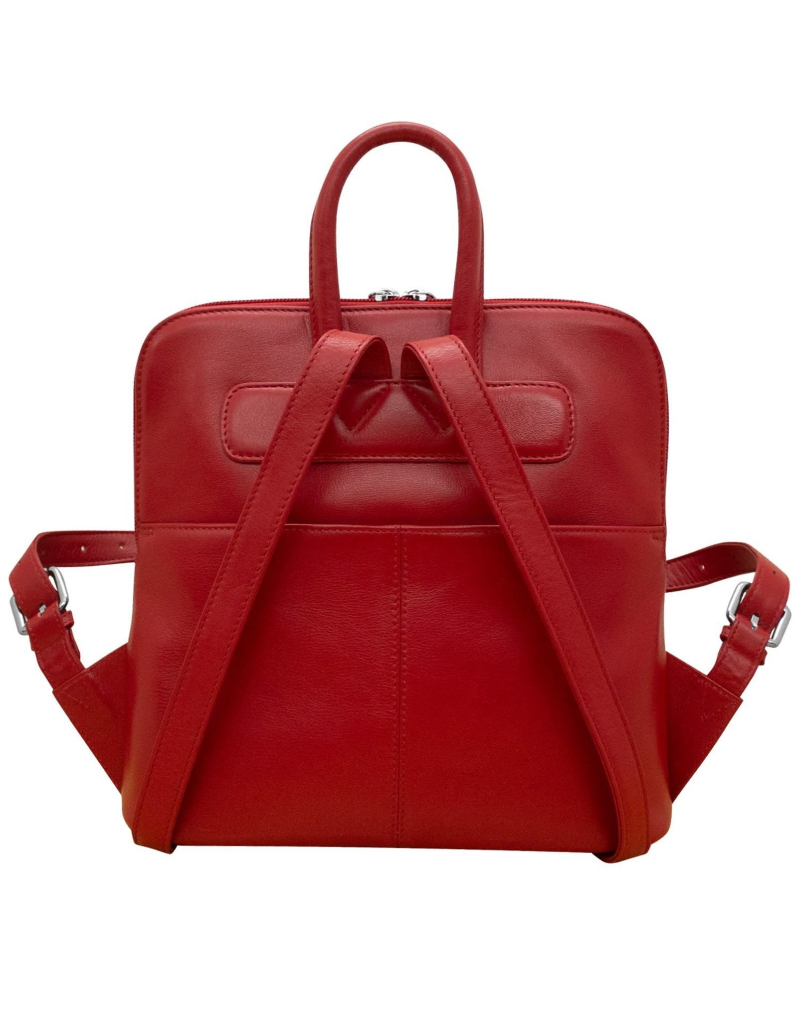 Leather Handbags and Accessories 6503 Red - Small Backpack