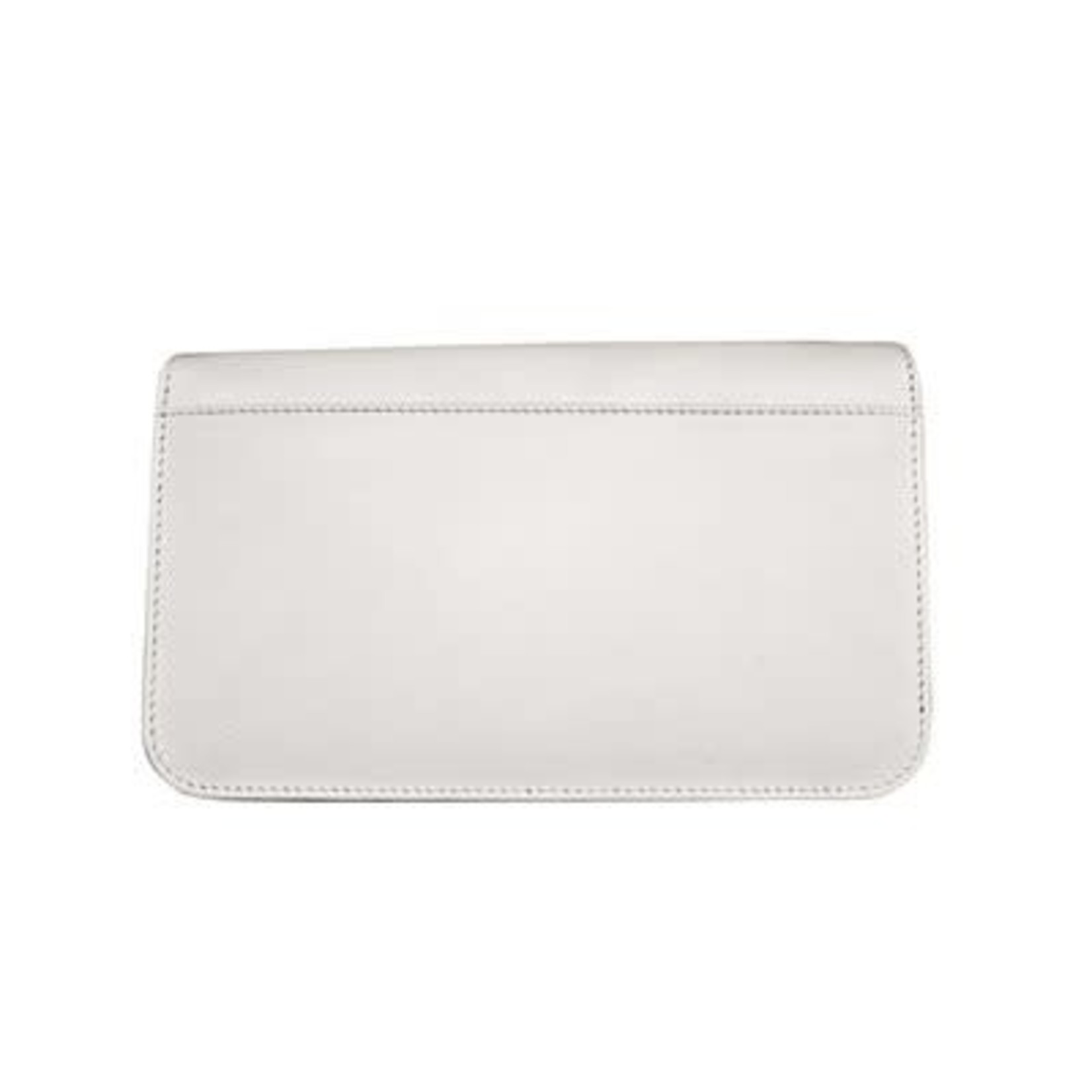 Leather Handbags and Accessories 6517 White - RFID Smartphone Crossbody
