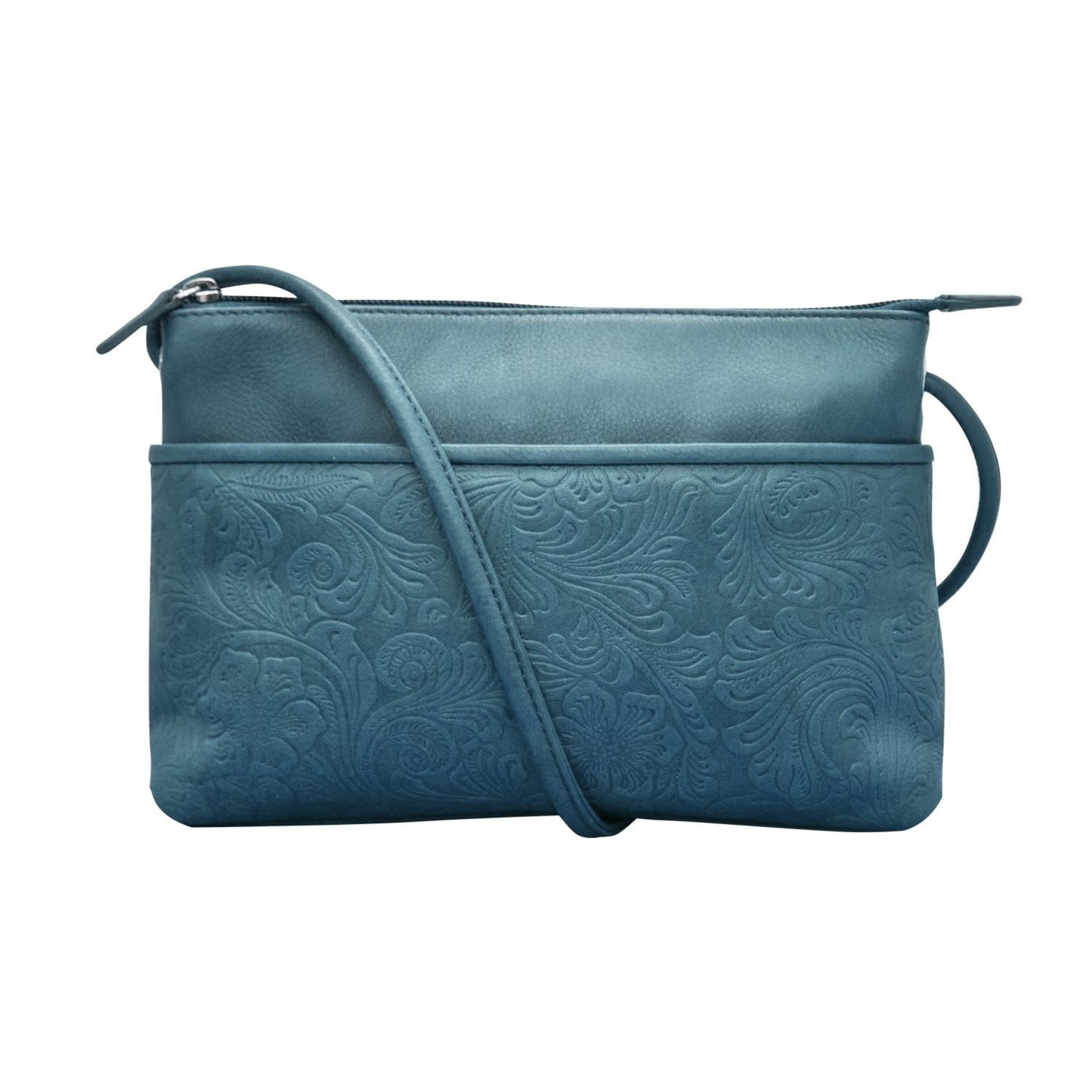 Leather Handbags and Accessories 6566 Jeans Blue - Cheyenne East West Crossbody