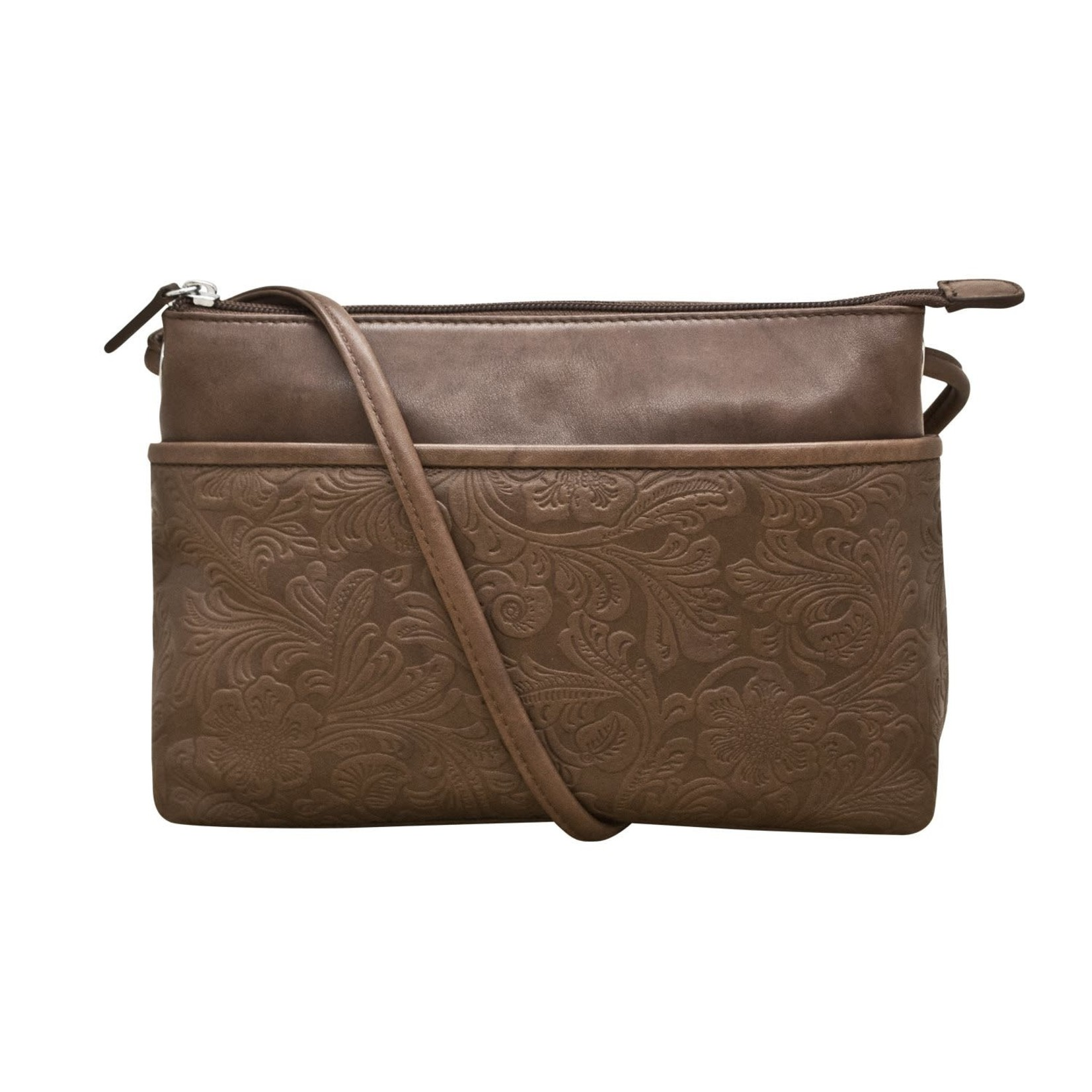 Leather Handbags and Accessories 6566 Toffee - Cheyenne East West Crossbody