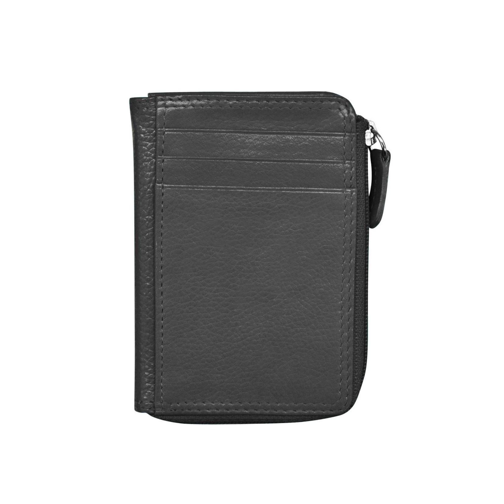 Leather Handbags and Accessories 7411 Black - RFID CC ID Holder