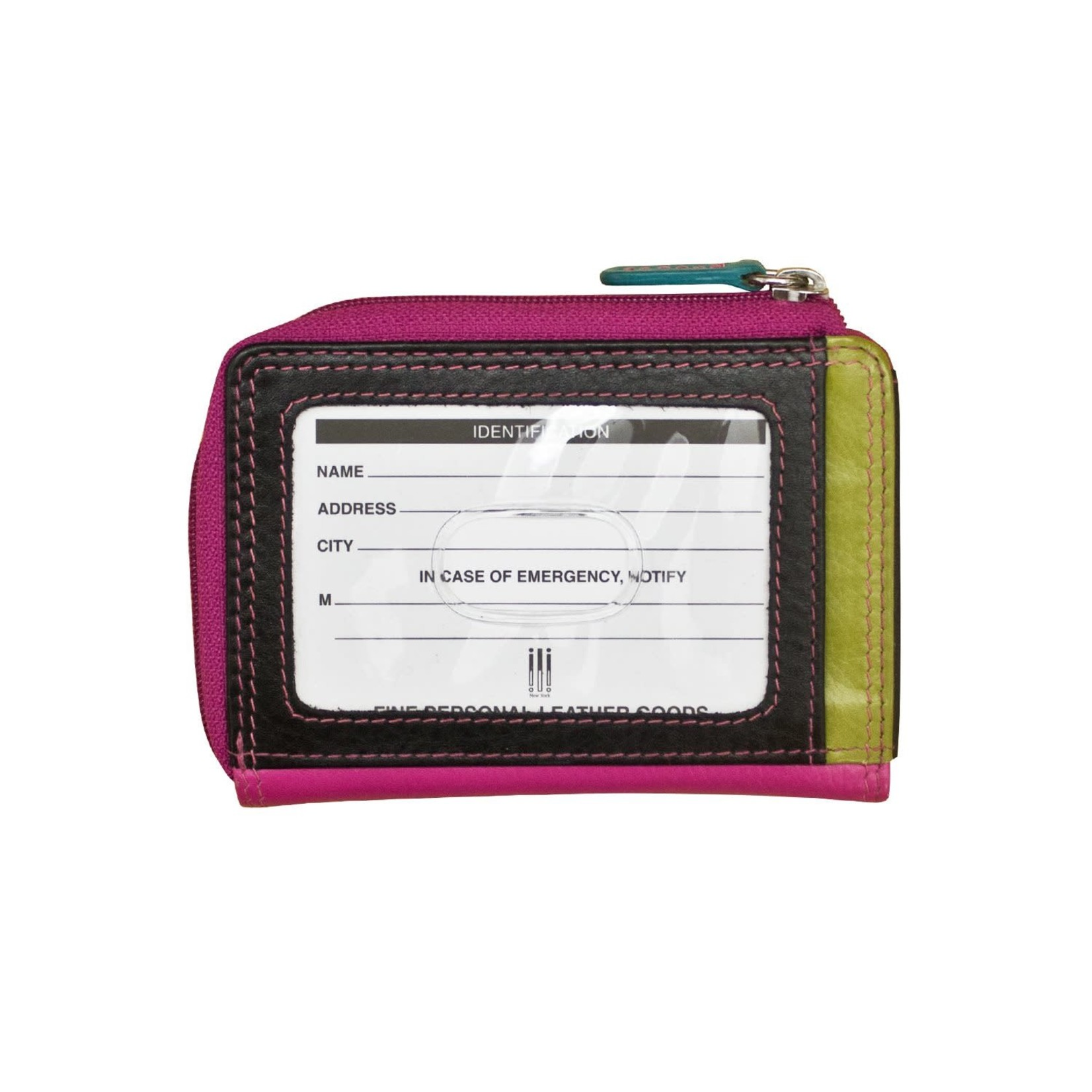 Leather Handbags and Accessories 7411 Black Brights - RFID CC ID Holder
