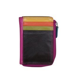 Leather Handbags and Accessories 7411 Black Brights - RFID CC ID Holder